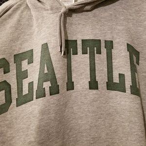 Brandy melville  gray seattle hoodie NEW